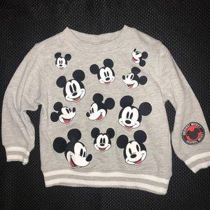 VGUC Disney Mickey Mouse sweatshirt. Sz 2T.